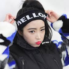 cool headbands women mens fashion headband hello letter hairband stretchy sport