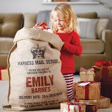 personalised christmas sack holidays burlap and xmas