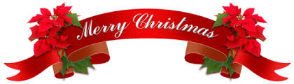 christmas ribbon with leaves and the text merry