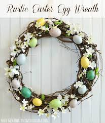 faux eggs for decorating rustic easter egg wreath meatloaf and melodrama
