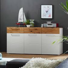 wohnzimmer sideboard wohnzimmer sideboard in weiß wildeiche furniert 180 cm breit jetzt