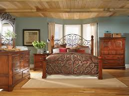 Pecan Bedroom Furniture Solid Wood Iron And Wood Bedroom Furniture Vivo Furniture