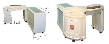 manicure tables with ventilation 450 white gold or dk brown manicure table ddm manicure tables