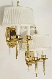 Wall Mounted Candle Sconce Polished Brass Wall Mount Lights Pair Candle Sconces W Vintage