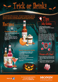 trick or drink programme monin com