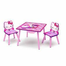 Childrens Folding Table And Chair Set Hello Kitty Table And Chair Set With Storage Ebay