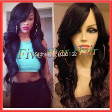 wavy weave with side swept bangs wavy weave hairstyles with side