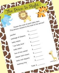 jungle safari baby shower game ideas baby shower games and gaming