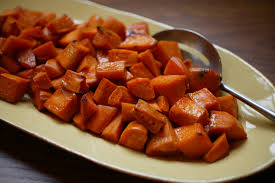 wildflower honey and whisky glazed sweet potatoes recipe