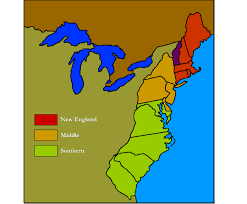 map of colonies 13 colonies regions