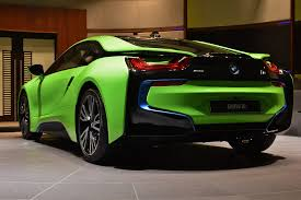 lime green bentley bmw i8 in neon green