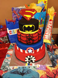 superhero cake superman batman spiderman captain america iron man