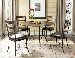 Rustic Wood And Metal Dining Chairs The Euro Style Allan Round Stainless Steel Dining Table 315 In