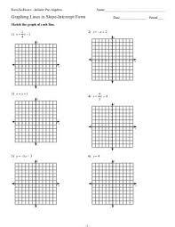 algebra 1 slope intercept form worksheet 1 28 templates