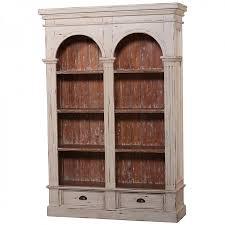 roosevelt double arch bookcase antiq cream