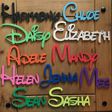 wall letters ebay disney personalised wooden name plaques words letters wall door art craft sign