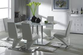 Modern Dining Room Chairs Leather Fresh Centerpiece On Top Dining Table Around Cool Design White