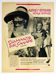 hepburn diamants sur canapé original poster of breakfast at s 1962