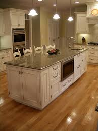 Kitchen Island Granite Countertop White Cabinets Gourmet Kitchen Big Island Eating Island