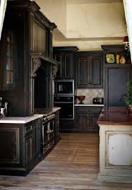 Black Kitchen Cabinets by Black Rustic Cabinets Kitchen