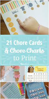 21 chore cards and chore charts to print tip junkie