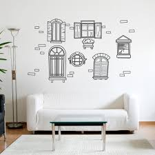vintage windows wall decal