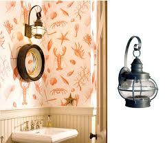 Nautical Bathroom Lighting Outdoor Lanterns Add Nautical Touch Inside Nantucket Cottage