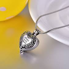 ashes locket always in my heart cremation ashes locket necklace coco park hot