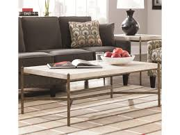 thomasville round coffee table thomasville cachet rectangular coffee table w travertine stone top