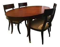 ethan allen hathaway oval dining table u0026 chairs chairish