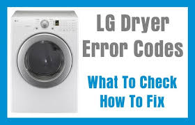 Clothes Dryer Filter Lg Dryer Error Fault Codes What To Check How To Fix