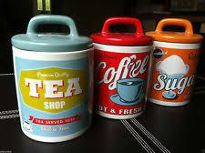 retro kitchen canisters ceramic vintage retro kitchen canister sets ebay