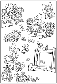 beautiful spring flower garden coloring pages womanmate com