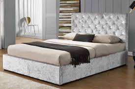 Ottoman Storage Bed Frame by Chatsworth Crushed Silver Diamante Ottoman Storage Bed Double King