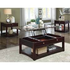 hepburn lift top side end table furniture of america carson transitional brown cherry lift top
