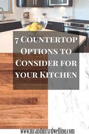 Best Countertops For Kitchens Best 25 Countertop Options Ideas On Pinterest Kitchen