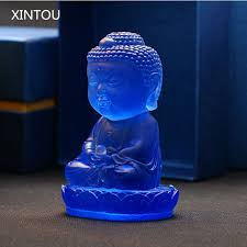 xintou india buddhism buddha statue figurines blue feng shui home