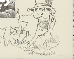 maurice sendak lithograph for jack and guy battledore