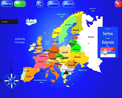 Europe Political Map Quiz by Maps Of Europe Map Of Europe In English Political Throughout