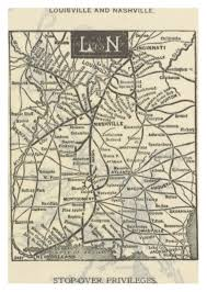 Louisville Map File Mc Pg154 Network Map Of The Louisville U0026 Nashville Railroad