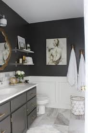 bathroom gray and black bathroom ideas olive colored bath towel Grey And Black Bathroom Ideas