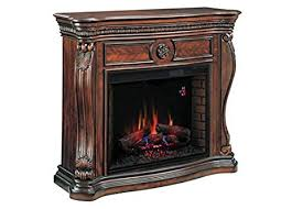 Electric Fireplace With Mantel Infrared Electric Fireplace Mantel In Cherry