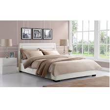 Leather Bed Frame Queen Best 25 White Leather Bed Frame Ideas On Pinterest Brown