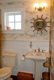 Wallpapered Bathrooms Ideas Ralph Lauren Wallpapered Powder Room Great Nautical Wallpaper