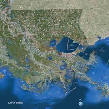 Baton Rouge Zip Code Map Louisiana Satellite Wall Map Maps Com