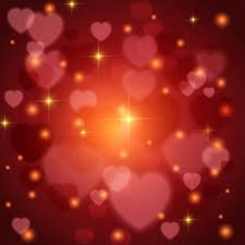 valentines day lights background with lights and hearts for s day vector