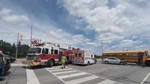 caught on video car crashes into bus in mississauga