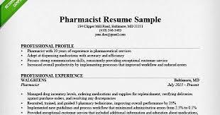 Sample Resume Of Pharmacist by Pharmacist Resume Template