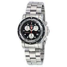 swiss military seawolf i chronograph black dial men u0027s watch 1726