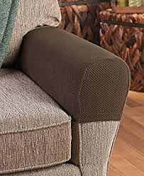 Stretch Covers For Armchairs Amazon Com Pixel Stretch Fabric Furniture Armrest Cover Set Of 2